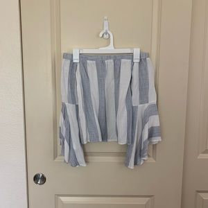 LF Striped off the shoulder top